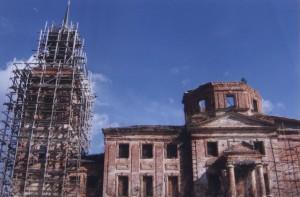 Начало восстановительных работ на храмовой колокольне